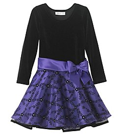 Bonnie Jean Girls' 4-6X Long Sleeve Velvet Dress