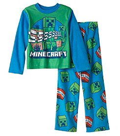 Warner Bros.® Boys' 6-10 2 Piece Minecraft® Pajama Set