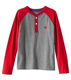 Chaps® Boys 4-7 Long Sleeve Block Henley Top