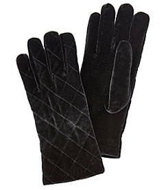 Cejon Solid Velvet Quilted Gloves