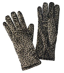 Cejon Animal Print Velvet Gloves