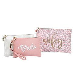 Tricoastal Bride 3-Pack Cosmetic Bag Set