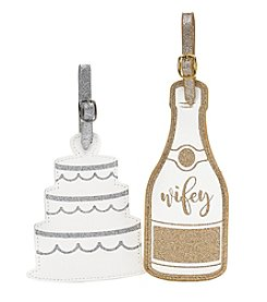 Tricoastal Cake And Wifey Luggage Tags