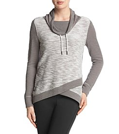 Calvin Klein Performance Color Block Crossover Pullover Top