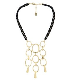 Laundry® Goldtone Linked Frontal Bib Necklace
