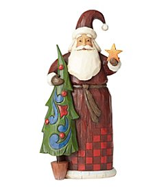 Heartwood Creek by Jim Shore Folklore Santa with Tree Ornament