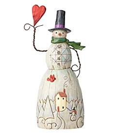 Heartwood Creek by Jim Shore Folklore Snowman with Heart Ornament