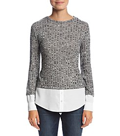 Calvin Klein Marled Mix Media Sweater