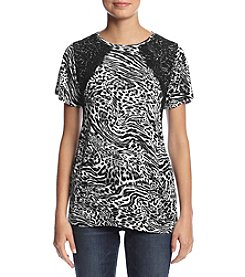MICHAEL Michael Kors® Big Cat Lace Crew Tee