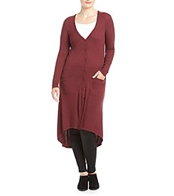 no comment™ Plus Size High Low Duster Cardigan
