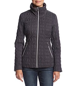 Anne Klein® Quilted Stand Collar Coat