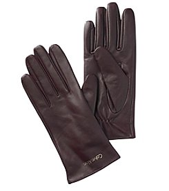 Calvin Klein Solid Leather Gloves