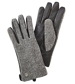Calvin Klein Boucle Leather Palm Gloves