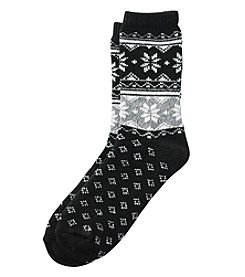 Cuddl Duds® Diamond Fairisle Crew Socks