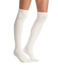 Cuddl Duds® Sidestitch Cuff Diamond Cable Socks