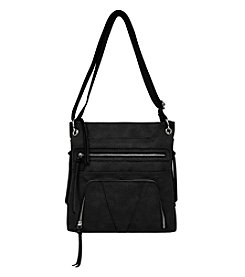 GAL Grained Pebble Zip Pocket Crossbody
