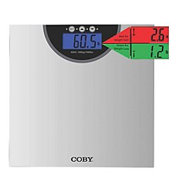Coby® Digital Bathroom Scale with Color Changing Display and Weight Comparison Feature