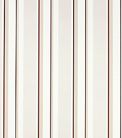 Laura Ashley® Eaton Stripe Cranberry Red Wallpaper