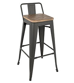 LumiSource® Set of 2 Oregon Industrial Low-Back Barstools