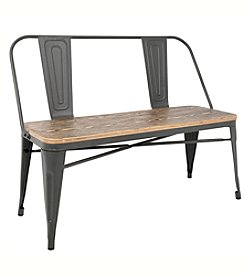 LumiSource® Oregon Industrial Farmhouse Dining/Entryway Bench