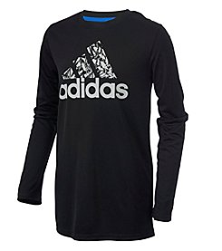 adidas® Boys' 2T-20 Long Sleeve Climate Photo Sport Tee