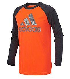 adidas® Boys' 2T-7X Long Sleeve All Sport Logo Tee
