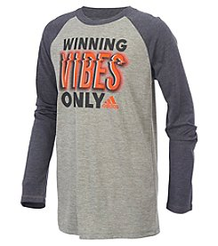 adidas® Boys' 2T-7X Long Sleeve Winning Vibes Only Tee