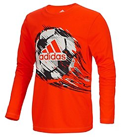 adidas® Boys' 2T-7X Long Sleeve Climate Dynamic Tee