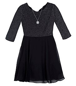 A. Byer Girls' 7-16 Back Bow Dress