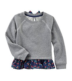 OshKosh B'Gosh® Girls' 2T-4T Ruffle Sweatshirt