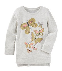 OshKosh B'Gosh Girls' 2T-4T High-Low Long Sleeve Sweatshirt Tunic