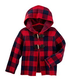 OshKosh B'Gosh® Girls' 2T-4T Hooded Plaid Cardigan