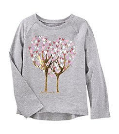 OshKosh B'Gosh Girls' 4-8 Long Sleeve Tree Graphic Top
