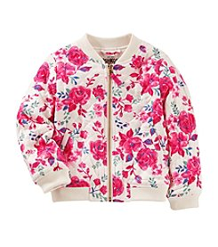 OshKosh B'Gosh Girls' 4-8 Floral Bomber Lightweight Jacket