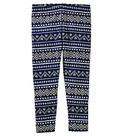 OshKosh B'Gosh Girls' 4-8 Fair Isle Leggings
