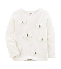 Carter's Girls' 2T-4T Long Sleeve Bow Top