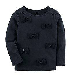 Carter's Girls' 2T-8 Long Sleeve Bow Top