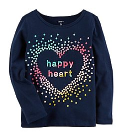 Carter's Girls' 2T-4T Long Sleeve Happy Heart Shirt