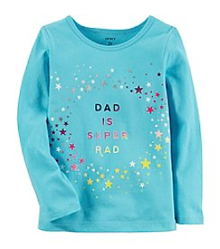 Carter's Girls' 2T-8 Long Sleeve Dad Is Rad Tee