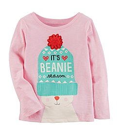 Carter's Girls' 12M-8 Long Sleeve Character Top With Beanie