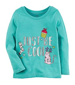 Carter's Girls' 12M-4T Long Sleeve Just Be Cool Top