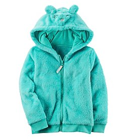 Carter's Girls' 12M-8 Faux Sherpa Ears Hoodie