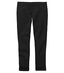 Carter's Girls' 12M-8 Sparkle Fleece Leggings