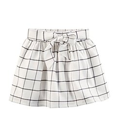 Carter's Girls' 2T-8 Windowpane Skirt