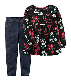 Carter's Girls' 2T-4T Floral Top and Jeggings Set