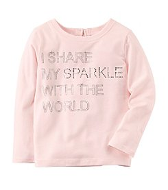 Carter's Girls' 4-8 Share My Sparkle Long Sleeve Tee
