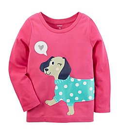 Carter's Girls' 4-8 Long Sleeve Dachshund Tee