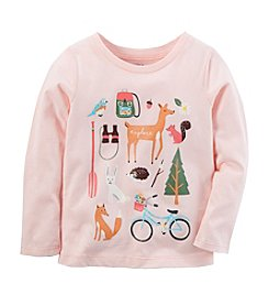 Carter's Girls' 4-8 Long Sleeve Camping Tee