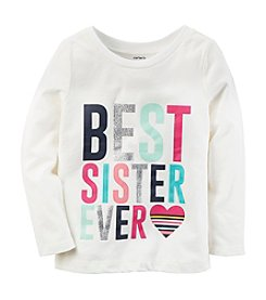 Carter's Girls' 12M-8 Long Sleeve Big Sis Tee