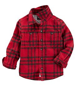 OshKosh B'Gosh Boys' 2T-8 Long Sleeve Plaid Flannel Shirt